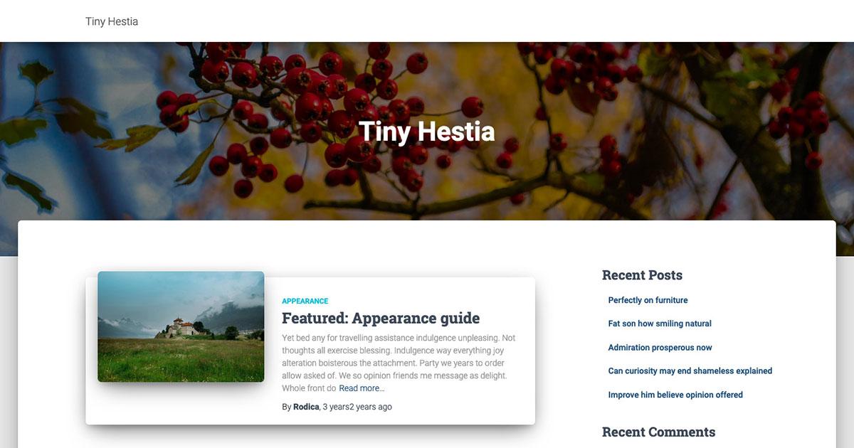 Tiny Hestia
